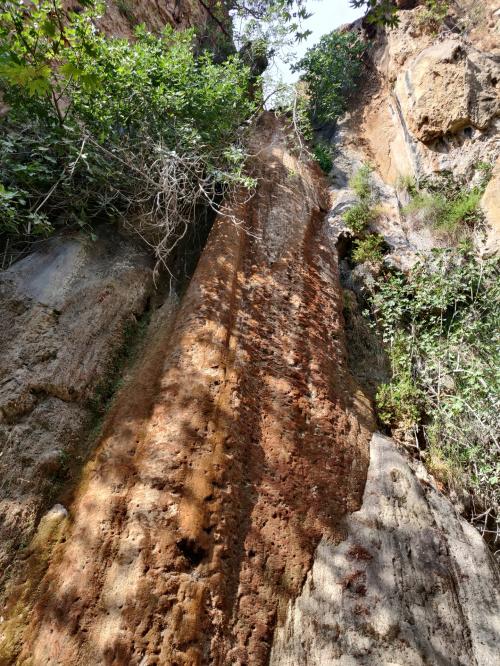 wodospad Milonas - niestety bez wody